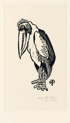 Marabu - holzschnitt 1947 - Otto Pankok, 1893-1966 Deutschland
