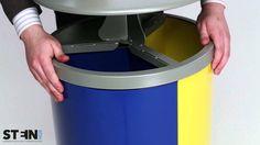 Abfallbehälter -Cubo Delmar- 90 Liter, mit 3 Einzelbehälter