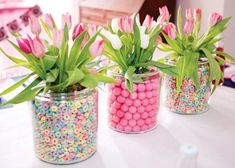 Candy Centerpieces are a hot trend right now in bar & bat mitzvah decor, sweet 16 parties, and even some whimsical weddings. Here are 6 ideas for showcasing your Candy Centerpieces, including ideas for showcasing your colors, themes or initials..
