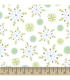 Holiday Inspirations™ Christmas Fabric-Stenciled Snowflakes