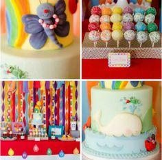 So many fantastic #rainbow #birthday #party ideas here!