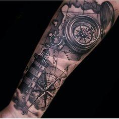 Resultado de imagem para carta nautica tattoo