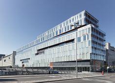 Kungsbrohuset, Stockholm. Glaspartier Schüco, levererade av Fasadglas. Strategisk Arkitektur. Foto: Lindman Photography