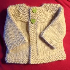 Quick Oats baby sweater. Free pattern on Ravelry
