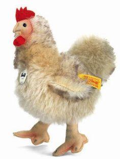 Steiff Siglinde chicken, beige. Made of finest mohair.7 inches. $98.00