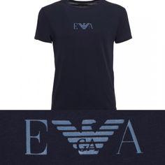 Emporio Armani Men's T-Shirt. Maglia Maniche Corte Uomo. Blue. #emporioarmani #emporio #armani #ea #mens #uomo #tshirt #underwear #blue #blu