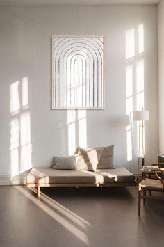 Modern poster and printable wall art design. Minimalist Interior, Minimalist Decor, Home Interior, Modern Interior Design, Modern Decor, Mid-century Modern, Modern Prints, Modern Interiors, Minimalist Apartment