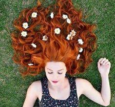 Imagen de flowers, hair, and girl