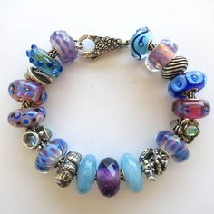 "Trollbeads Inspiration Bracelet - ""Blue Quartz II"" designed by Cathy at Tartooful"