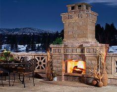 outdoor entertaining area