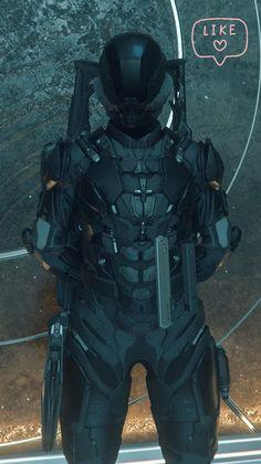 Robot Concept Art, Armor Concept, Weapon Concept Art, Futuristic Armour, Futuristic Art, Star Citizen, Space Armor, Combat Armor, Military Armor