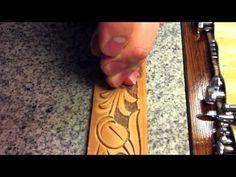 how to tool a leather sheath oak leaf pattern my way - YouTube