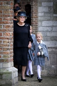 Dutch Princess Beatrix and Countess Zaria arrive for the commemoration of Prince Friso at the Old Church in Delft, The Netherlands, 02.11.13.