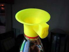 Fruit Fly Trap for Soda Bottle by MatsErik - Thingiverse Design Files, 3d Design, 3d Printing Diy, 3d Printer Designs, Fruit Flies, Fly Traps, Plastic Design, Plastic Caps, Impression 3d