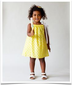 Stunning beautiful Penelope Pinafore Dress in Lemon Link by Emma Laue. Perfect for a bright sunny summer, available at www.ladybugkisses.com.au
