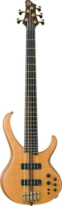 Ibanez BTB1405E Premium 5 String Bass Guitar | Vintage Natural Flat