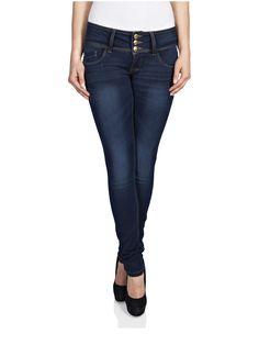 15079014 Skinny low anemone denim jeans