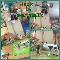 Jack and the beanstalk small world. Retell the story.