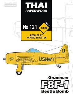 Grumman F8F-1 Bearcat Grumman F8F-1 Bearcat Beetle Bomb Free Aircraft Paper Model Download