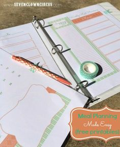 Meal Planning Made Easy {free printables}