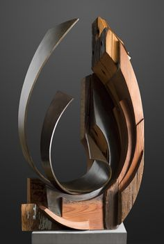 """I love this Amazing Sculpture by Sedonya Kay - """"Fire & Water"""" - Mixed Recycled Wood and Mild Steel #Taurus #Taurus Moon #Virgo Rising"""