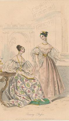 September, 1833 - Evening Dresses - Court Magazine