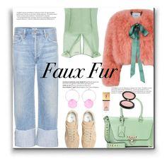 """Wow Factor: Faux Fur"" by mariamouzaki ❤ liked on Polyvore featuring Erdem, Maison Margiela, Citizens of Humanity, La Perla, Balmain, Valentino, Yves Saint Laurent, Estelle & Thild and Marni"