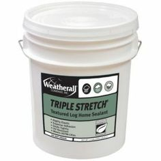 Weatherall Triple Stretch textured log home sealant - uniquely formulated chinking; made to use where exceptional elasticity is needed - logs with greater moisture content, log or slab siding, log corners or other dynamically moving joints. #historical appearance with lifetime warranty; expands and contracts with log movement & shrinkage. Cures faster & prevents bubbles & dust from collecting on the material.  Easy to apply! #LogCabin www.mountainhomebuildingproducts.com