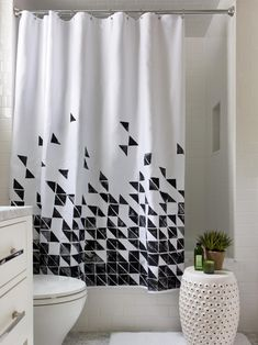Contemporary Bathroom Designs With Trendy Shower Curtain   TopDesignIdeas