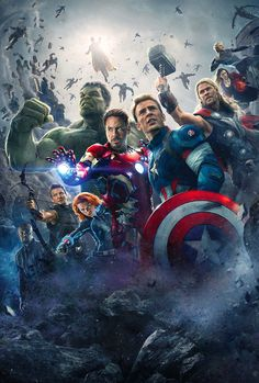 Cool Avengers AOU textless wallpaper.  #avengers
