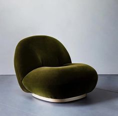 Gubi Pacha Lounge Chair by Pierre Paulin is a strong statement in this moss green upholstery by Photographer . Cafe Chairs, Dining Chairs, Lounge Chairs, Room Chairs, Beach Chairs, Lounge Couch, Restaurant Chairs, Office Chairs, Home Design