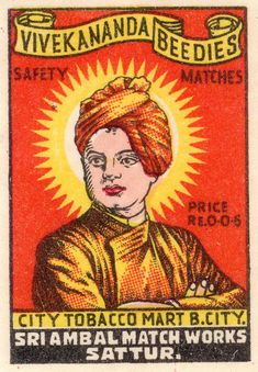 The History of Indian Matchbox Art Vintage Labels, Vintage Ads, Vintage Posters, Graphics Vintage, Om Namah Shivaya, Matchbox Art, Vintage India, Indian Folk Art, Graphic Design Posters
