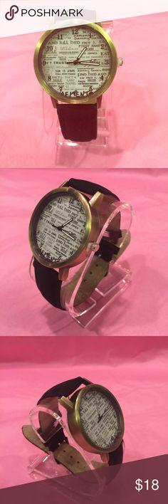 Men leather watch.... Black.... Geneva Platinum Accessories Watches