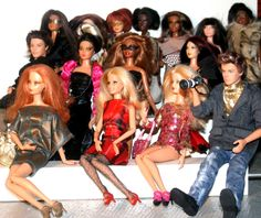 A Gift From The Gods loves this fabulous Barbie Fashion Week front row.