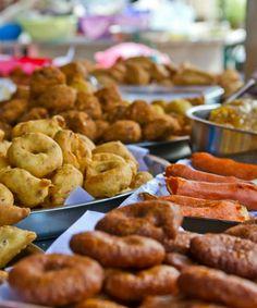 Puesto de comida en la India