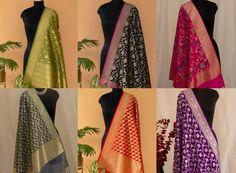 Shop For Heritage Banarasi Dupattas Here! • Keep Me Stylish Blouse Back Neck Designs, Blouse Designs, White Kurta, Plain Dress, Fashion Games, Kimono Top, Stylish, Pretty, Shopping