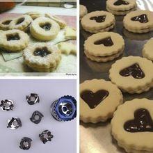 7 Pçs/lote Mix Estrela Em Forma de Coração molde de Silicone Bolo cookie cutter…