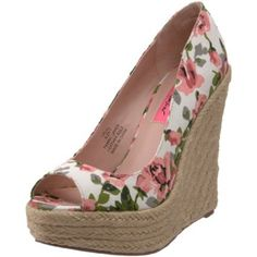 Hello Betsey Johnson Valll Open-Toe Espadrille, I want you for spring :)
