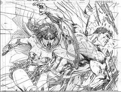 Superman/Wonder Woman//Drawings and Sketches/Jim Lee/ Comic Art Community GALLERY OF COMIC ART