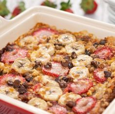 Strawberry Banana Baked Oatmeal