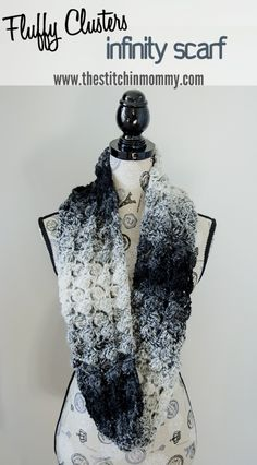 Fluffy Clusters Infinity Scarf - Free Crochet Pattern