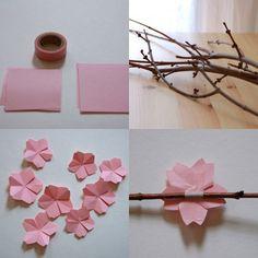DIY Cherry blossom - Flores de cerezo en papel