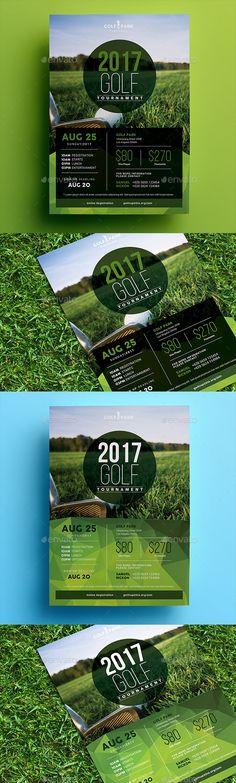Golf Tournament Flyer Template PSD