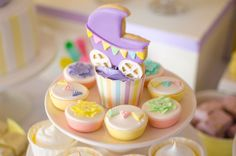 Sweets at a Pastel Baby Shower #pastel #babyshower