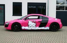 Audi R8 Hello Kitty jedyny słuszny wzór dla tego autka :)