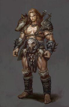ArtStation - barbarian, Frank Lee