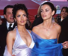 Revisit Iconic Moments From Oscars History: Penelope Cruz and Salma Hayek have been close friends for over a decade, and arrived together at the 2002 Oscars. Three years later Salma was nominated for her work in Frida while Penelope won an Academy Award in 2009 for Vicky Cristina Barcelona.