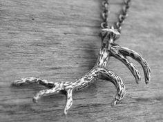 Silver Deer Antler Necklace by Ink & Roses 13