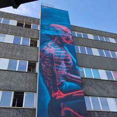 #streetart in Berlin, Germany, by artist insane51 (for Berlin Mural Fest). ...
