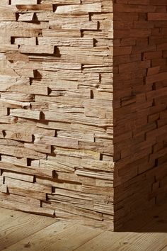 Stakkato - Eiche neu gespalten | Wandverkleidung aus Holz, Lamellen, 3D, 3-dimensional, Holzoptik #Design #Inneneinrichtung #Architektur  | Quelle: uniwood